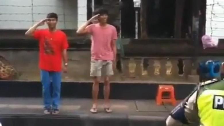 Terobos Pelican Cross, 2 Remaja di Bali Dihukum Hormat dan Nyanyi