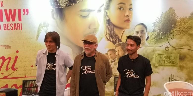 Foto: Once, Iwan Fals, dan Fiersa Bersari (Dyah P Sarawati/detikHOT)