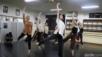 Latihan tersebut untuk pementasan di Museum Nasional Indonesial, 3-4 Agustus mendatang.
