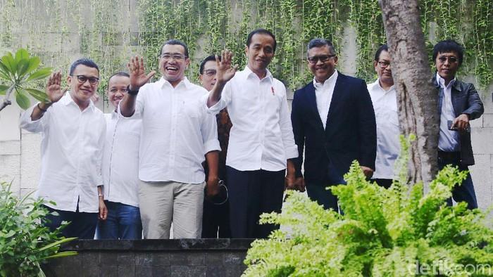 Foto: Jokowi-Maruf Amin Hadiri Pembubaran TKN (Grandyos Zafna)