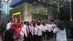 Relawan Jokowi-Maruf Geruduk Lokasi Pembubaran TKN