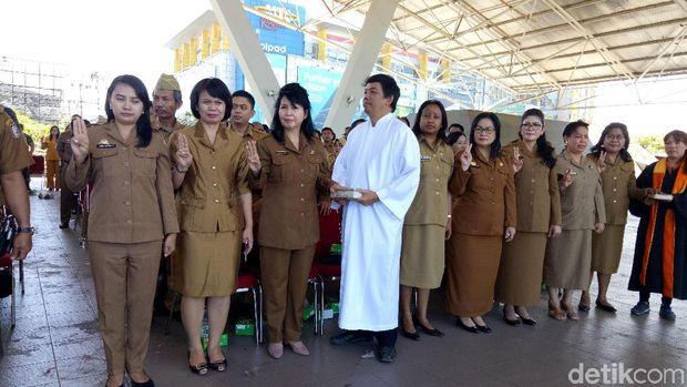 Sebanyak 1.073 ASN Pemkot Makassar, Sulawesi Selatan (Sulsel) dikembalikan ke jabatan semula.