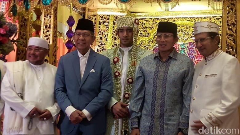 Foto: Sandiaga Uno di nikahan Tania Nadira / Pingkan A.