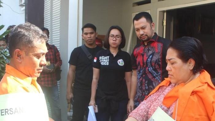 Foto: Nunung rekonstruksi kasus sabu (dok.istimewa)