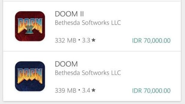 Dua Game Legendaris Doom Rambah Android dan iOS