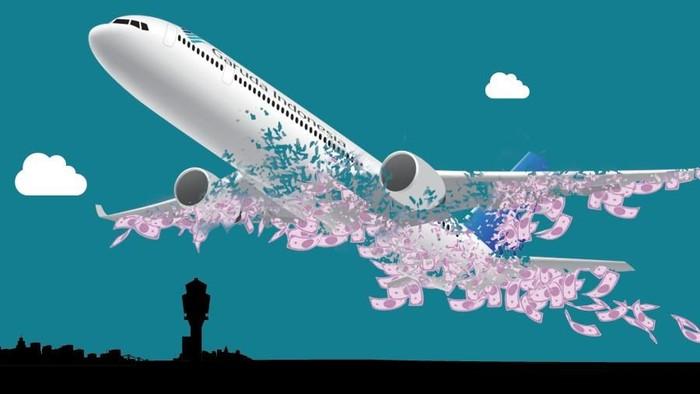 Infografis Perjalanan Laporan Keuangan Garuda