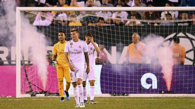 Real Madrid terpuruk di laga pramusim sejauh ini.
