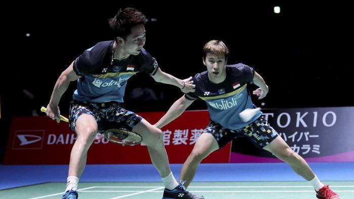 Sejumlah pebulutangkis Indonesia sukses mengamankan posisi melaju ke Final Japan Open 2019. Siapa saja mereka?