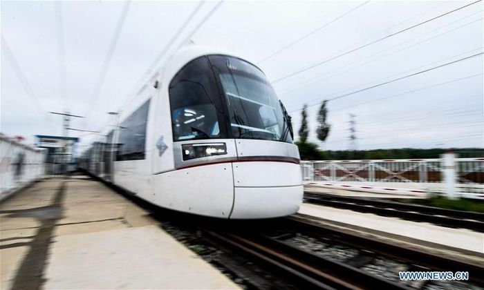Produksi dilakukan di bengkel CRRC Changchun Railway Vehicles Co., Ltd. di Changchun, ibu kota Provinsi Jilin, China timur laut. Istimewa/Dok. Xinhuanet/Wang Haofei.