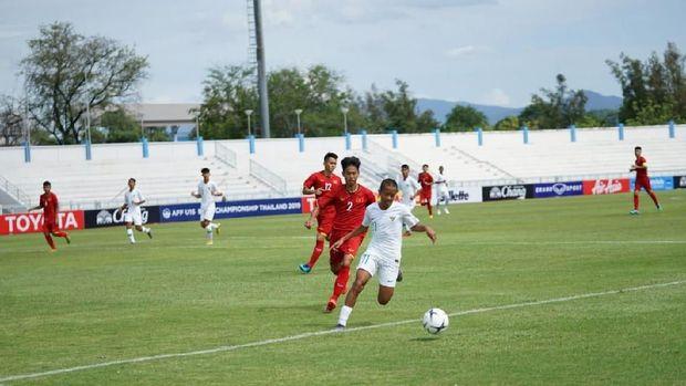 Timnas Indonesia U-15 ditahan imbang Timor Leste 1-1. (