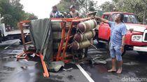 Truk dan Tabung CNG Berhasil Dievakuasi, Pantura Pasuruan Pulih
