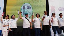 Kampanye Gerakan Tanpa Plastik, Kominfo Bagikan 1 Juta Botol Minum