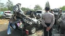 7 Orang Tewas, Begini Kerusakan 2 Bus yang Tabrakan di Tol Cipali