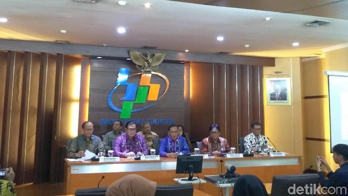 Foto: Rilis BPS tentang Indeks Demokrasi Indonesia (Azizah/detikcom)