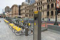 Stasiun penyewaan sepeda di Brisbane (iStock)