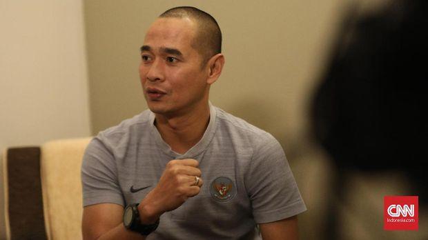 Asisten pelatih Timnas Indonesia U-23, Kurniawan Dwi Yulianto, optimistis meski masuk grup neraka SEA Games 2019. (
