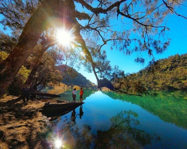 Ranu Kumbolo terletak di ketinggian 2.400 mdpl. Ranu Kumbolo berlokasi di Taman Nasional Bromo Tengger Semeru, Jawa Timur. ( Melati Raya Sihotang/dTraveler)