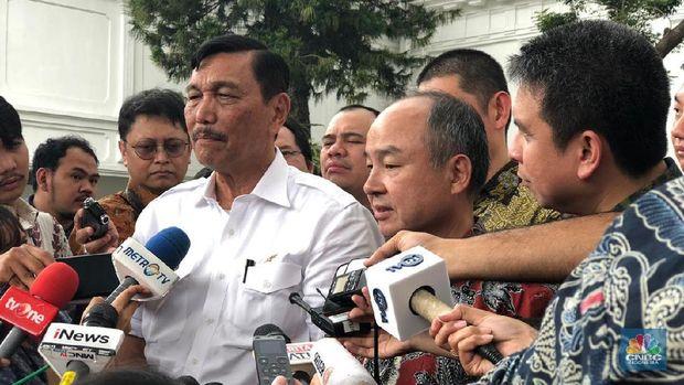 Menko Maritim Luhut Pandjaitan (CNBC Indonesia/Chandra Gian Asmara)
