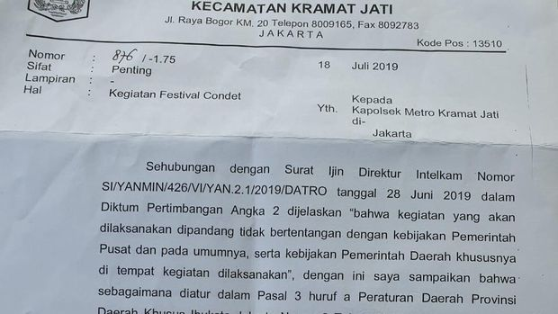 Festival Condet Tak Dihadiri Anies, Panitia Singgung Walkot Jaktim