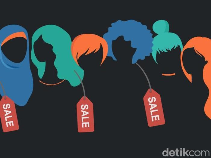 Ilustrasi perdagangan orang/prostitusi (Fuad Hashim/detikcom)