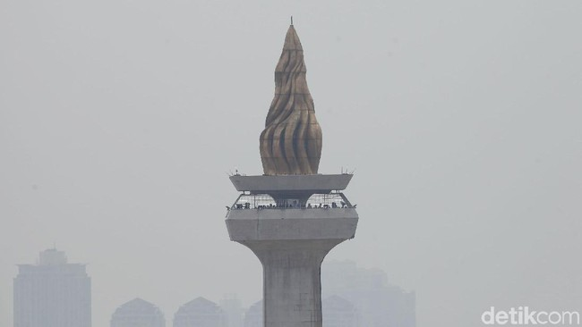 Polusi udara Jakarta. Foto: Rifkianto Nugroho