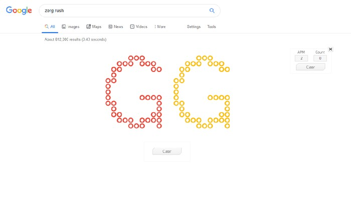 Main Game Zerg Rush di Google Yuk! (Foto: Screenshot Google)