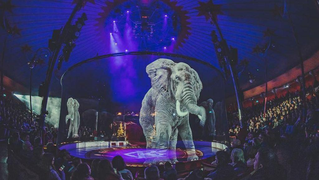 Indahnya Sirkus yang Tampilkan Hewan Berbentuk Hologram, Stop Siksa Binatang