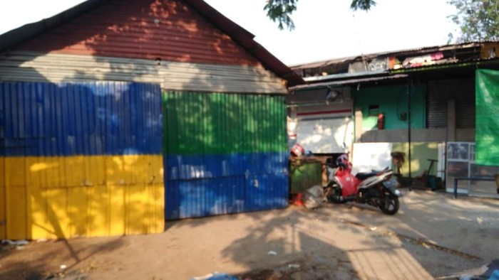 Lokasi pria makan kucing hidup-hidup di Kemayoran. (Adhi Indra Prasetya/detikcom)