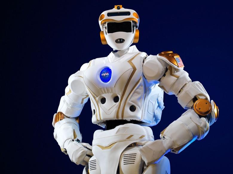 Robot R5 Valkyrie ini merupakan sebuah robot semi otonom yang dikembangkan NASA. (Foto: Dok. NASA)