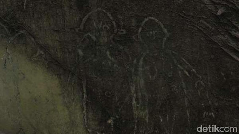 Lukisan di Gua Kontilola (Afif Farhan/detikTravel)