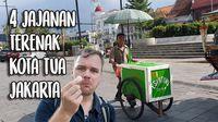 Jelajahi Kota Tua Jakarta, Bule Ini Borong Jajanan Murah