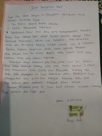 Surat permintaan maaf Rey Utami.
