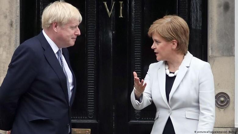 Boris Johnson Disambut Dingin di Skotlandia