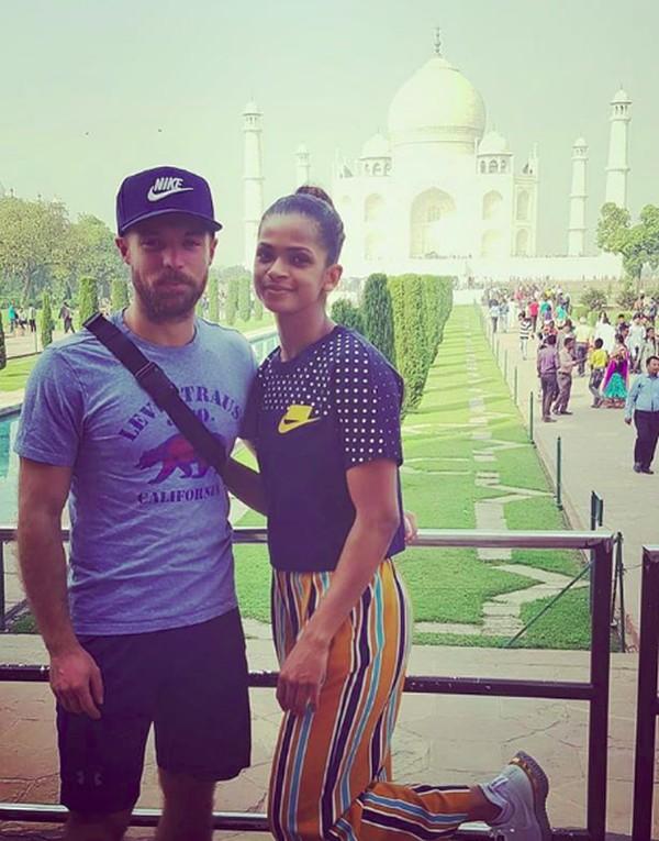 Ini saat Ramla Ali di Taj Mahal, India. (somaliboxer/Instagram)