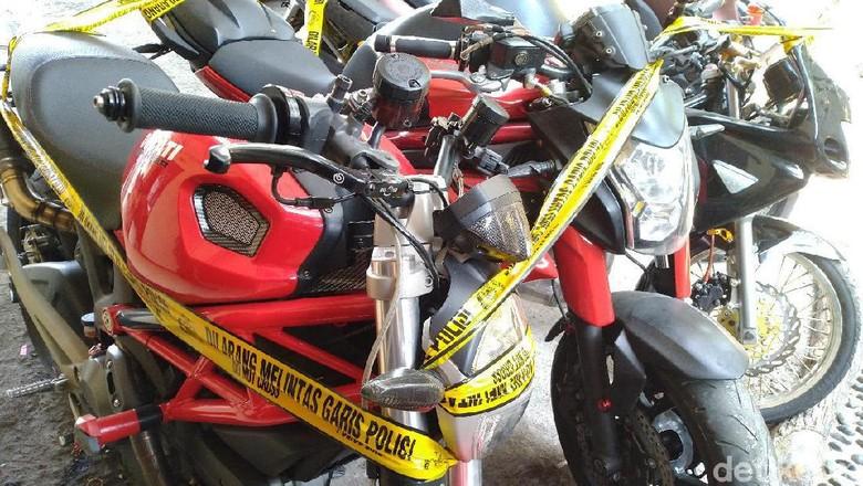 Ducati yang disita polisi Foto: (Sachril-detikcom)