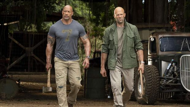 'Hobbs and Shaw': Asyiknya Nongkrong Bareng The Rock dan Jason Statham