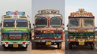 Layaknya di Indonesia, sejumlah truk di India pun dihiasi dengan beragam gambar dan hiasan yang tak jarang menarik perhatian orang-orang yang melihatnya. Istimewa/Dan Eckstein via CNN.