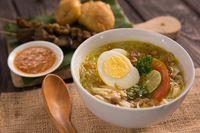 Resep masakan rumahan: soto kuning ayam.