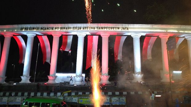 Acara seremoni Festival Merah Putih.