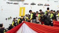Gelar Rangkaian Ratusan Penyelam, WASI Catat Rekor Dunia