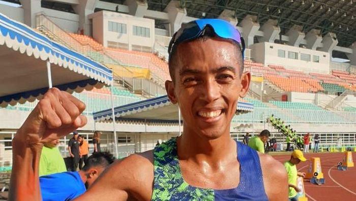 Agus Prayogo meraih emas dari lari 5.000 m di Kejurnas Atletik 2019. (dok. PASI)