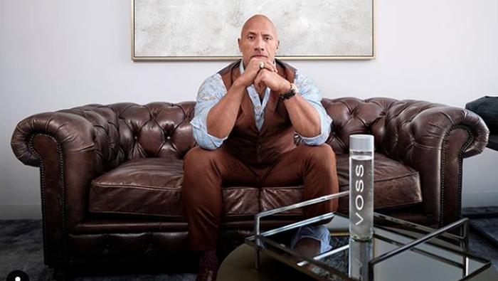 Dwayne Johnson atau The Rock dari instagram.