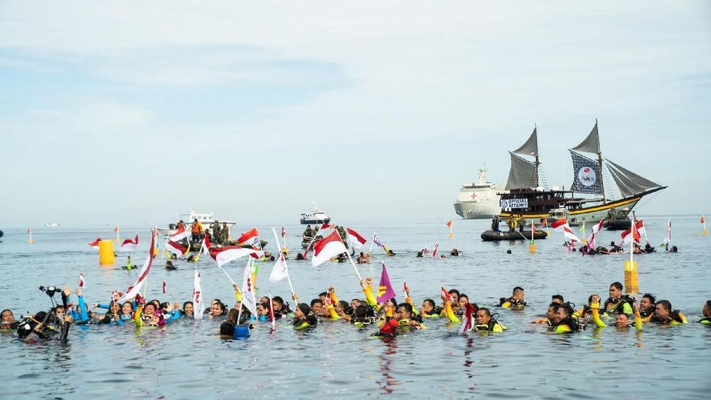 #DukungRekorDuniaSelam Iringi Pencapaian Penyelam Indonesia