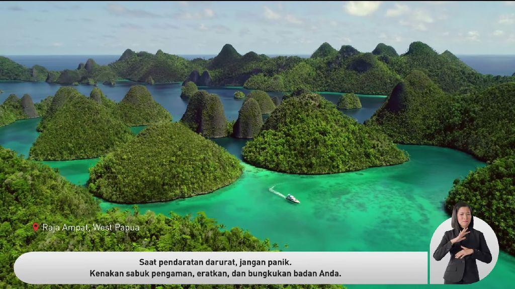Potret Keindahan Nusantara di Video Keselamatan Garuda Indonesia