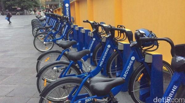 Melbourne Bike Share, sepeda ini bisa kita sewa lewat sebuah aplikasi. Bisa sewa seharian maupun bulanan. (Rahmayoga/detikcom)