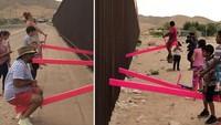 Sindir Trump, Jungkat-jungkit Pink di Perbatasan AS Menangkan Penghargaan Seni
