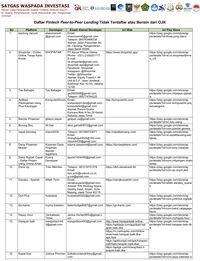 Perhatian Ini Daftar Nama 143 Fintech Ilegal