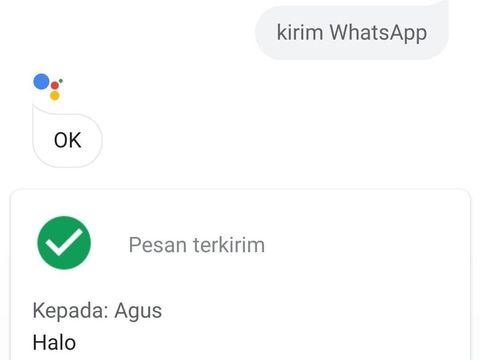 Kirim Pesan WhatsApp Pakai Google Assistant