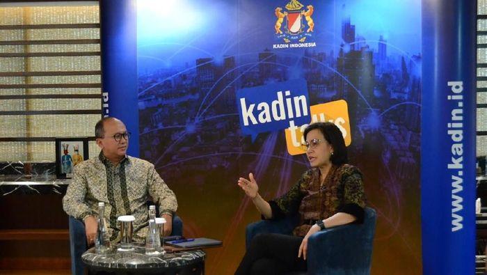 Menteri Keuangan Sri Mulyani di Kadin Talks/Foto: Dok. Kadin