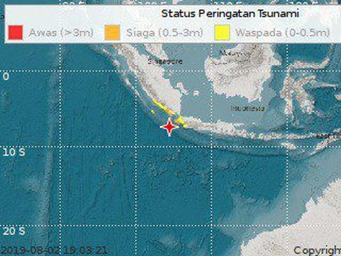 Ini Titik Gempa Banten Yang Berpotensi Tsunami